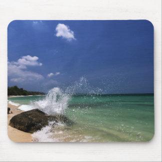 Mar de la playa y cojín de ratón de la arena mouse pads