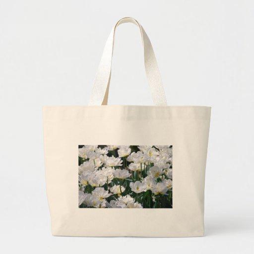 Mar de las flores blancas bolsa tela grande