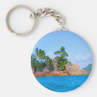 mar de las palmeras de Seychelles de la isla del p Llaveros