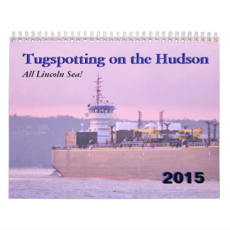 Mar de Lincoln--Tugspotting en el Hudson Calendarios De Pared