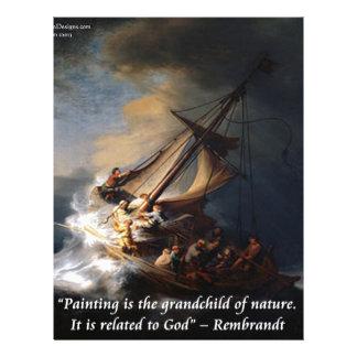 Mar de Rembrandt de la cita de Galilea y de la Membrete