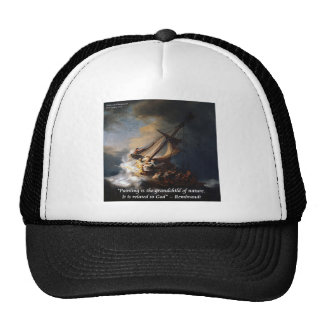 Mar de Rembrandt de la cita de Galilea y de la nat Gorras De Camionero