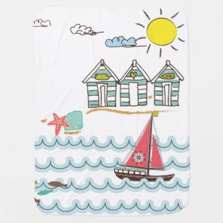 Mar de Sun y manta del bebé de la arena Manta De Bebé