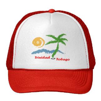 Mar de Trinidad and Tobago Sun y árbol de coco Gorras De Camionero