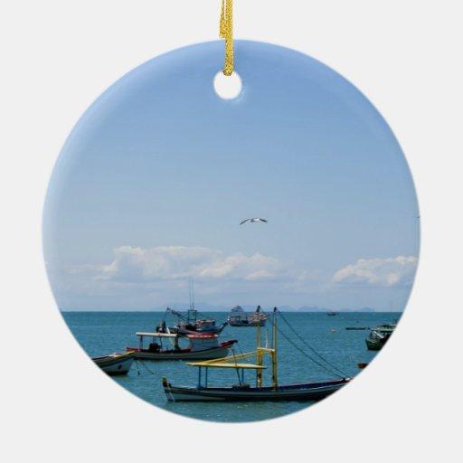 Mar del arte costero y fotografía azules de los ba adorno