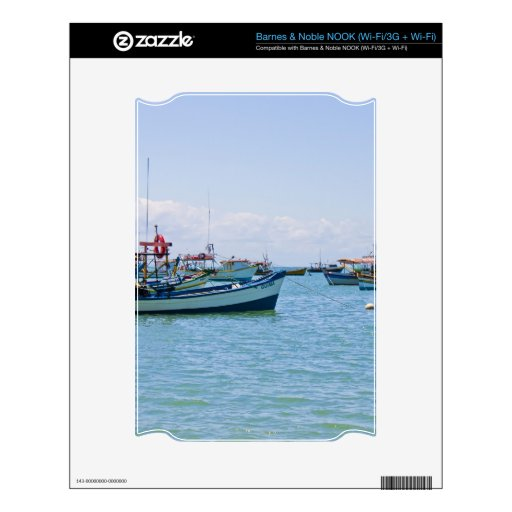 Mar del arte costero y fotografía azules de los ba skins para NOOK