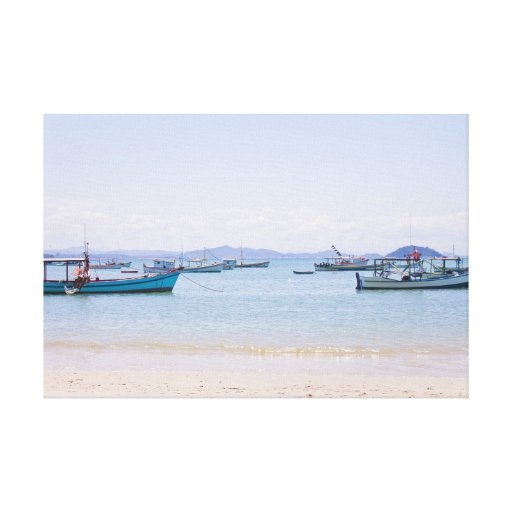 Mar del arte costero y fotografía azules de los ba impresiones en lona estiradas