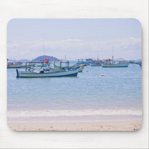 Mar del arte costero y fotografía azules de los ba alfombrillas de raton