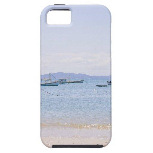 Mar del arte costero y fotografía azules de los funda para iPhone 5 tough