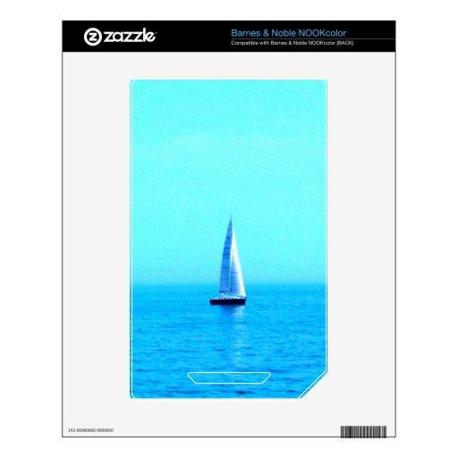 mar del barco que navega al éxito calcomanía para NOOK color