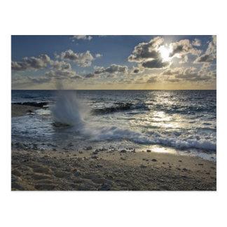 Mar del Caribe Islas Caimán Ondas que se estrel Tarjeta Postal