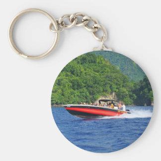 Mar del Caribe Llavero Redondo Tipo Pin