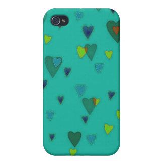 Mar del caso del iPhone 4 de los corazones iPhone 4 Carcasas