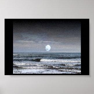 Mar del claro de luna póster