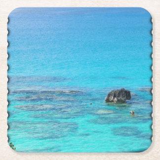 Mar del ~ del práctico de costa del azul posavasos desechable cuadrado