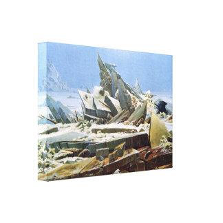 Mar del hielo por Friedrich - lona estirada Impresion De Lienzo
