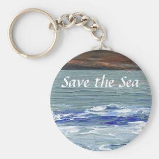 Mar del invierno - ahorre el llavero de las olas o