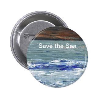 Mar del invierno - ahorre el Pin del botón de Cric