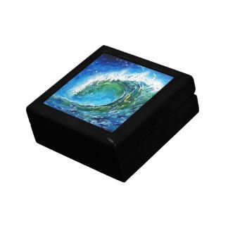 Mar del océano de la onda de la pintura al óleo de caja de regalo
