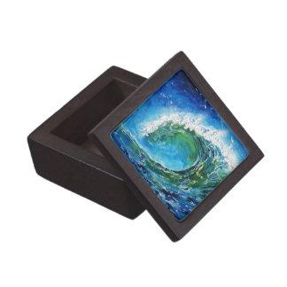 Mar del océano de la onda de la pintura al óleo de cajas de regalo de calidad