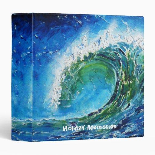 Mar del océano de la onda de la pintura al óleo de