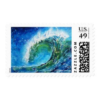 Mar del océano de la onda de la pintura al óleo de envio