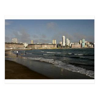 Mar Del Plata urban beach Argentina Postcard