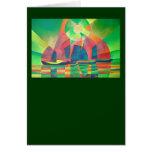Mar del verde tarjeta de felicitación