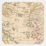 Mar Egeo Pegatina Cuadrada