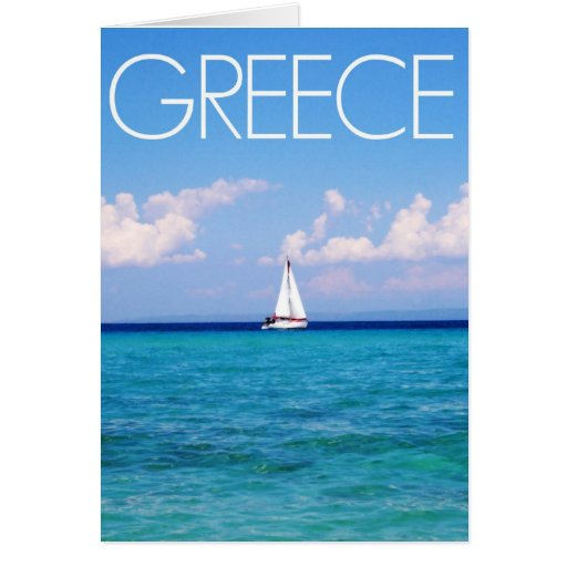 Mar Egeo Tarjeta De Felicitación