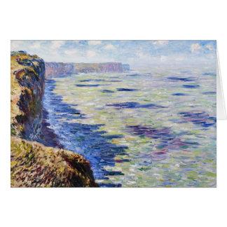 Mar en Fecamp, visión desde los acantilados, 1881 Tarjeta Pequeña
