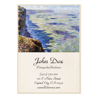 Mar en Fecamp, visión desde los acantilados, 1881 Tarjetas De Visita Grandes