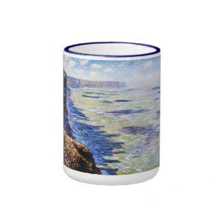 Mar en Fecamp, visión desde los acantilados, 1881 Taza A Dos Colores