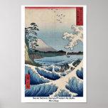 Mar en Satta en la provincia de Suruga por Ando, H Posters