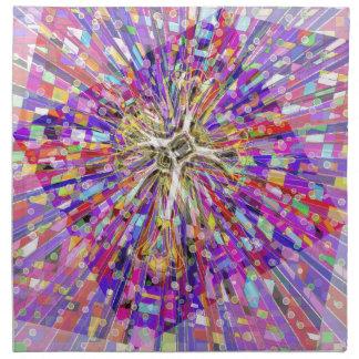 Mar espiritual de gemas servilleta de papel