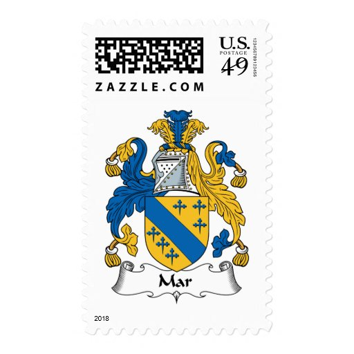 Mar Family Crest Postage Stamps
