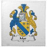Mar Family Crest Printed Napkin