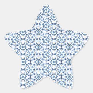 Mar griego del verano pegatina en forma de estrella