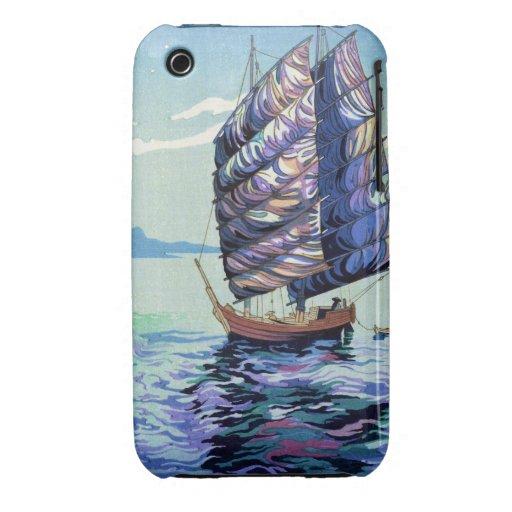 Mar interior de Okazaki Shintaro Seto en arte del  Case-Mate iPhone 3 Cárcasas