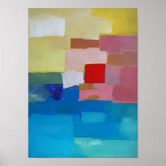 Mar/isla/cielo abstractos de la pintura - Plaza Ro Posters