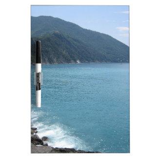 Mar italiano pizarra blanca