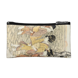 Mar japonés fresco de la mujer del ukiyo-e tres de