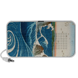 Mar japonés tradicional oriental fresco del waters portátil altavoz