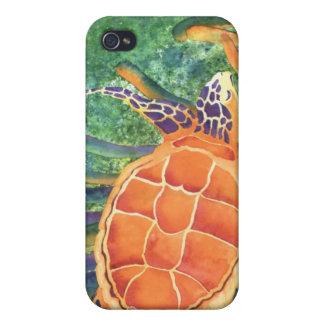 Mar la belleza - tortuga de mar iPhone 4 cárcasas