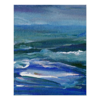 Mar lluvioso del poster del océano de CricketDiane