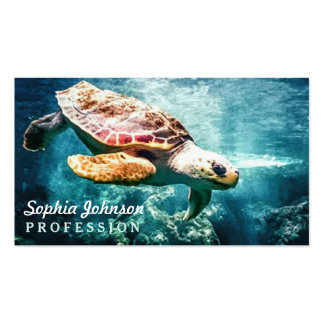 Mar maravilloso de la turquesa de la vida del tarjetas de visita