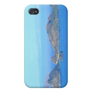 Mar Mediterráneo de las montañas de Grecia de la i iPhone 4 Cobertura