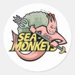 Mar-Monos del equipo Pegatina Redonda