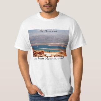 Mar muerto, visión desde la camiseta de Masada Playera