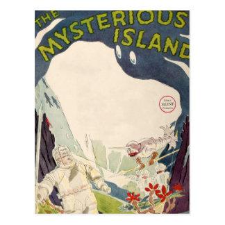 Mar náutico de la isla misteriosa de la película d postales